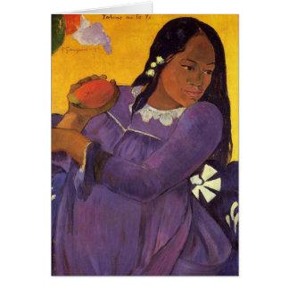 'Vahine No Te Vi' - Paul Gauguin Card