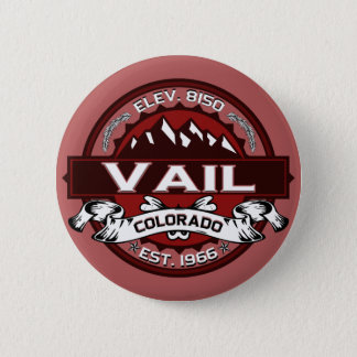 Vail City Logo Red 2 Inch Round Button