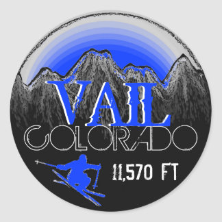 Vail Colorado blue ski mountain stickers