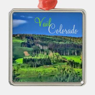 Vail Colorado bright runs scenic ornament