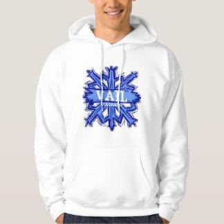 Vail Colorado guys winter snowflake hoodie