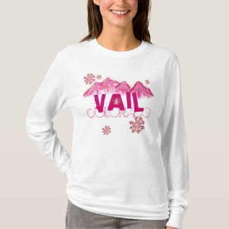 Vail Colorado pink themed mountain hoodie