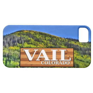Vail Colorado rustic log sign iphone 5 case