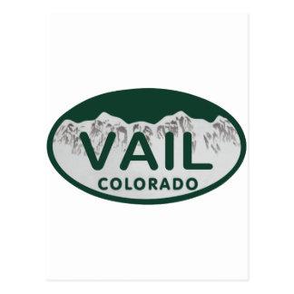 Vail license oval postcard