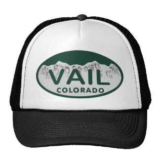 Vail license oval trucker hat