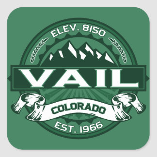Vail Logo Forest Square Sticker