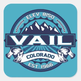Vail Logo Ice Square Sticker