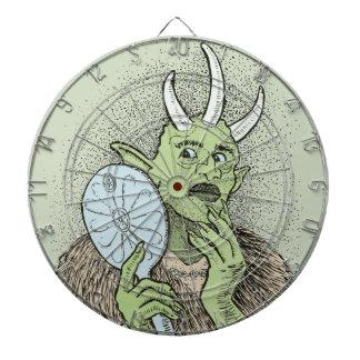 Vain Ogre with Hand Mirror Dartboard