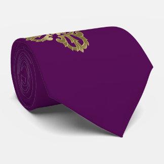 Vajra golden buddhist symbol tie