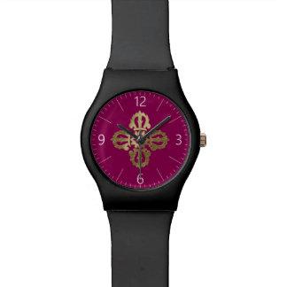 Vajra golden buddhist symbol watch