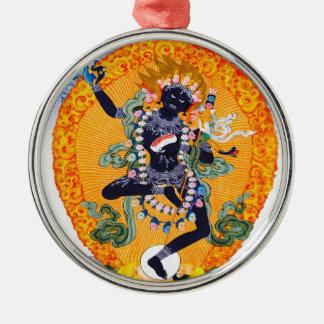 Vajravarahi Cool oriental tibetan Nairatmya Silver-Colored Round Ornament
