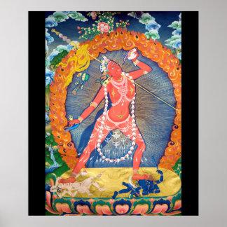 Vajrayogini Tibetan Buddhist Deity Poster