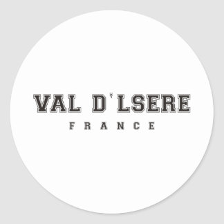 Val dlsere France Classic Round Sticker