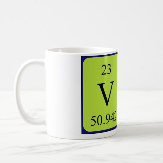 Val periodic table name mug
