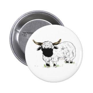 Valais Blacknose Sheep 2 Inch Round Button