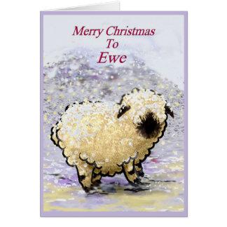Valais Blacknose Sheep Merry Christmas Card