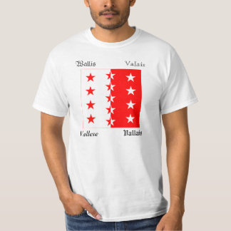 Valais Four Language Swiss Canton Flag T-Shirt