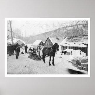 Valdez Trail Horses Alaska 1912 Poster