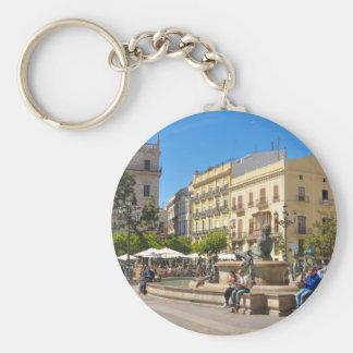 Valencia Basic Round Button Keychain
