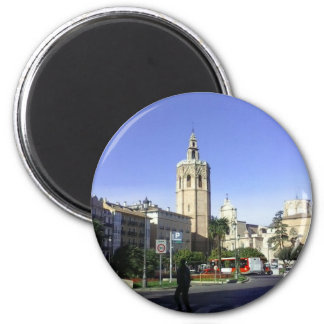 Valencia - Catedral 2 Inch Round Magnet