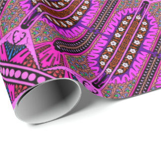 Valencia Fuschia Wrapping Paper