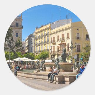Valencia Round Sticker