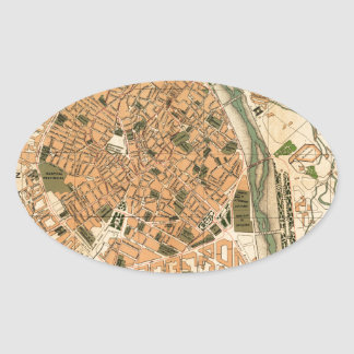Valencia Spain 1904 Oval Sticker