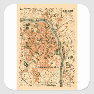 Valencia Spain 1904 Square Sticker