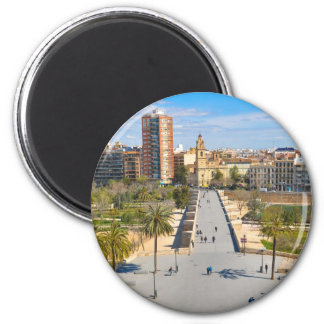 Valencia, Spain 2 Inch Round Magnet