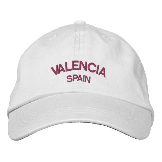 Valencia Spain Embroidered Hat