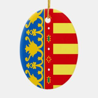 Valencia (Spain) Flag Ceramic Ornament