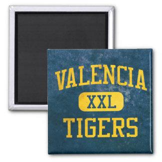 Valencia Tigers Athletics Square Magnet