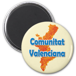 Valencian Community 2 Inch Round Magnet