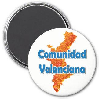 Valencian Community 3 Inch Round Magnet