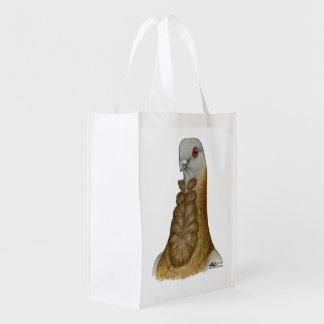 Valencian Figurita Pigeon Portrait Grocery Bag