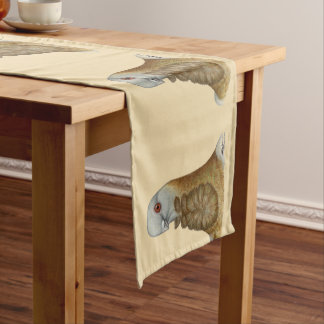 Valencian Figurita Pigeon Portrait Short Table Runner