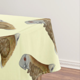 Valencian Figurita Pigeon Portrait Tablecloth