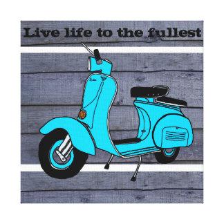Valenetina the retro bike canvas print