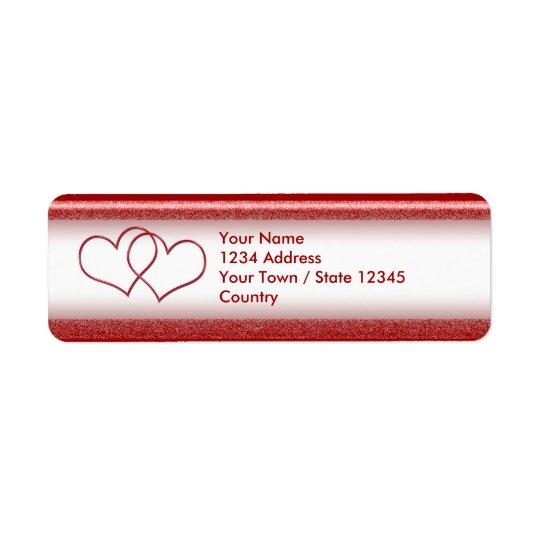 Valentine #1 return address label