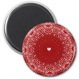 valentine 2 inch round magnet