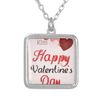 Valentine #5 silver plated necklace