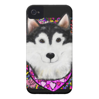Valentine Alaskan Malamute iPhone 4 Case-Mate Case