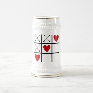 Valentine Arrows 'n Hearts Tic-Tac-Toe Beer Stein 18 Oz Beer Stein