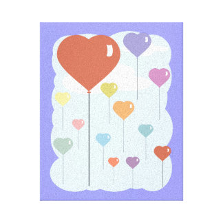 Valentine Balloon Hearts Canvas Print