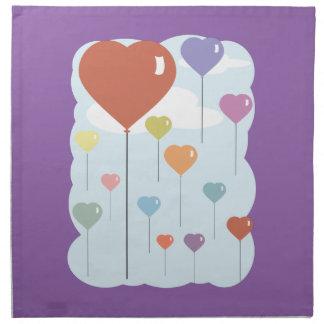Valentine Balloon Hearts Napkin