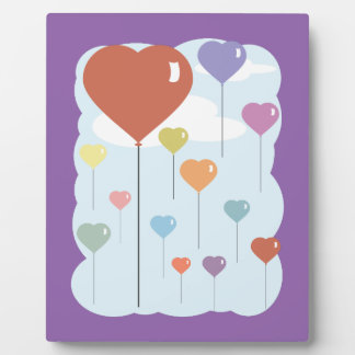 Valentine Balloon Hearts Plaque
