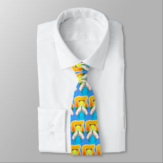 Valentine battant des grues à plat de couture dans cravate