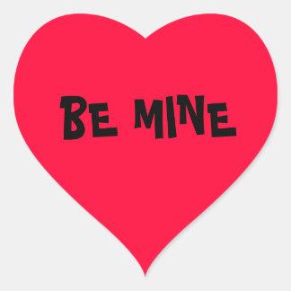 Valentine Be Mine Heart Sticker