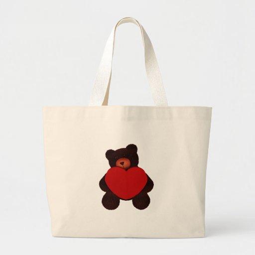 Valentine Bear Canvas Bag