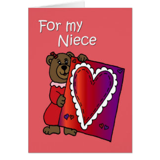 Valentine Bear for niece Card